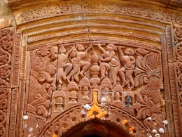 Front facade of a temple