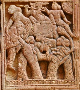 NABANAARIKUNJARA -- another symbolic Vaishnavite design where nine ladies are placed cleverly to create an elephant upon which Lord Krishna is placed