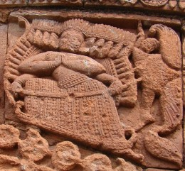 The demon king Ravana from the epic Ramayana