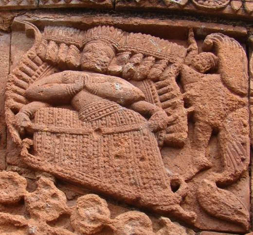 The demon king Ravana from the epic Ramayana