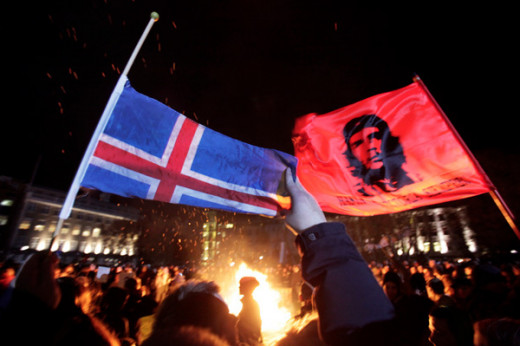 When the Iceland economy essentially evaporated in the 2008 collapse, extreme austerity loomed and was threatened to pay down huge debts. The people took to the streets quickly in response.