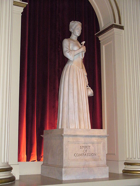 The Spirit of Compassion personified in a statue at the Epcot center in Florida