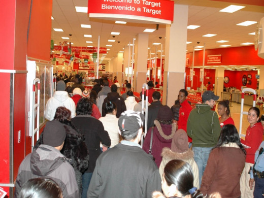 These shoppers are hoping to catch some great bargains at Target on Black Friday.  Avoid the crowds and shop using Target's mark down strategy as shown on the chart.