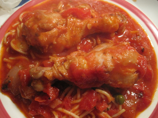 Chicken cacciatore is a great way to cook chicken in sauce and spices.