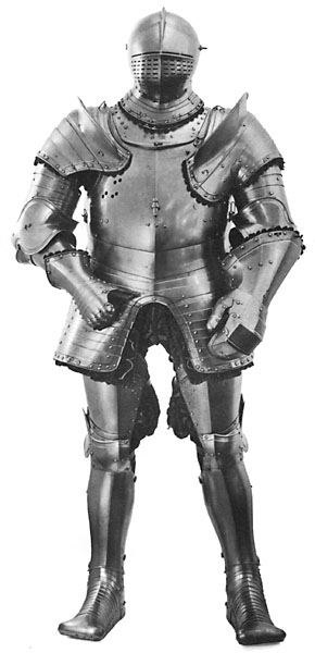 The armour of King Henry VIII dating from around the time of his marriage to his fifth wife - it shows the kind of figure he had at this point.