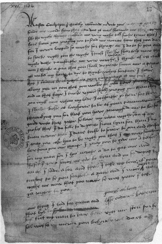Catherine's letter to Culpeper, which helped bring about her downfall