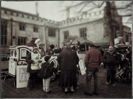 A street scene at the Victorian Christmas fair in Bedford, England!