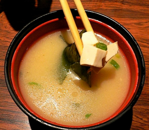 Tofu on Miso Soup