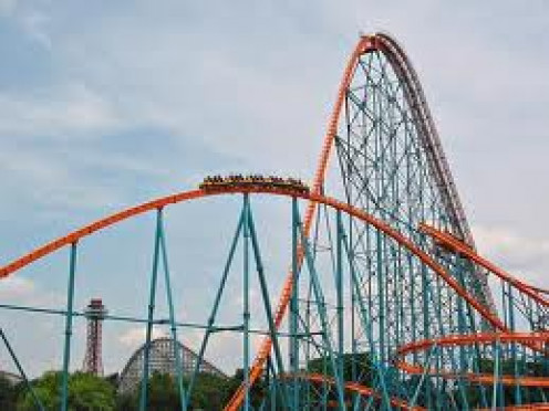 The Goliath at Six Flags in Atlanta, Georgia has the deepest drop of any coaster at the park.