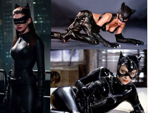 Anne Hathaway, Michelle Pfeiffer, Halle Berry as Catwoman