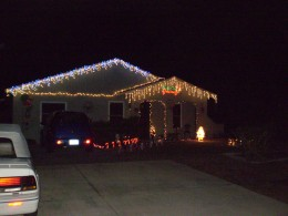 My house decorated for Christmas
