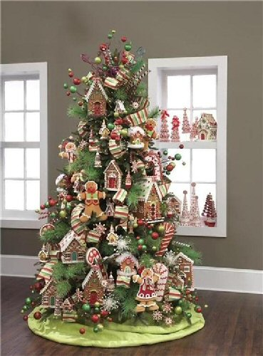 Christmas Tree decorated with Gingerbread cut outs