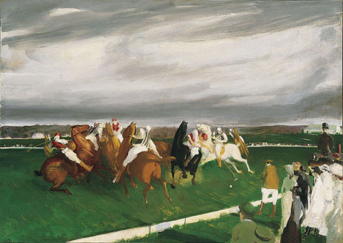 Polo at Lakewood by George Bellows in 1910.