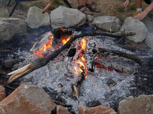 Building a fire can be safe and easy.  Fire can be started by friction or the modern way.