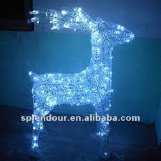 LED lights made out of raindeer