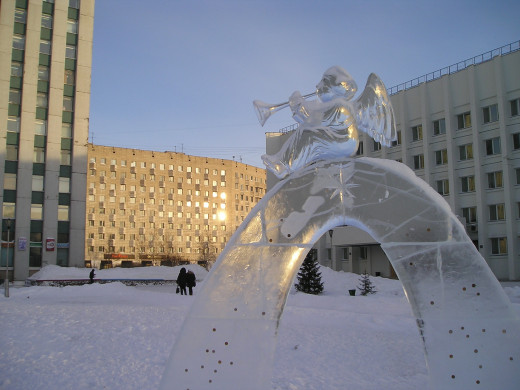 angel ice sculptures