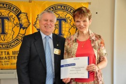 John Taylor and Dianne Sammut, both Distinguished Toastmasters and dedicated to making TMI ever better