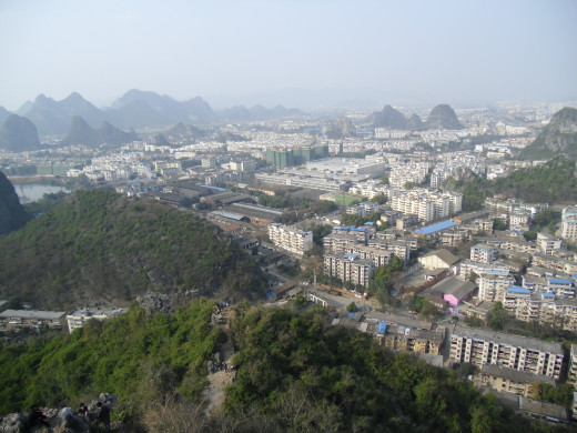 City of Guilin from above.