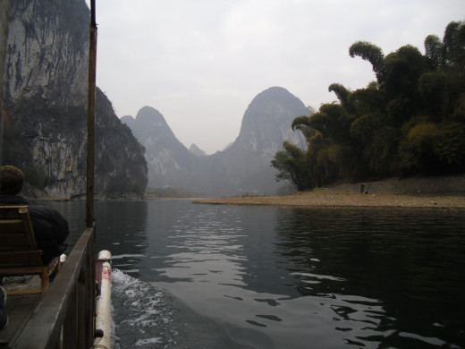 The Li River by raft.