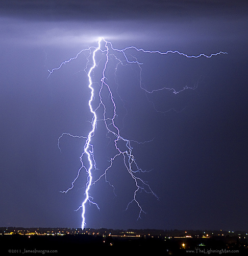 Lightning Strikes from Striking Photography  by Bo Insogna  Source: flickr.com