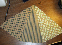 Here is the right side after pieces are sewn together