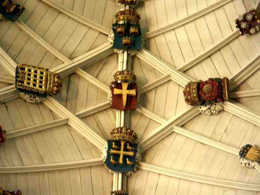 Winchester Cathedral ceiling detail