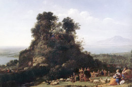 """Claude Lorrain, """"Sermon on the Mount"""" 1656, oil on canvas"""