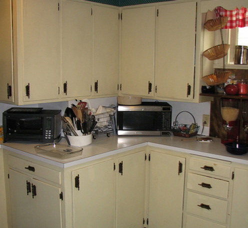 Boy, these kitchen cabinets could use some new hardware!