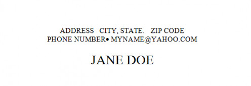 The personal information section of your resume can be used as the header of the document.