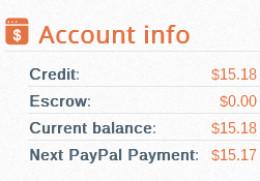 Screenshot of my earnings so far.
