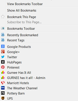 Favicons make it simple to locate a favorite website or blog that has been bookmarked.