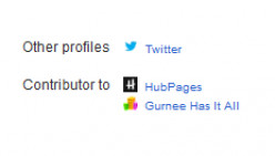 Google+ displays uploaded favicons on the profile/about page.