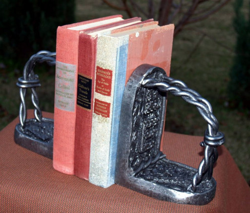 Bookends made in my class at Sloss.
