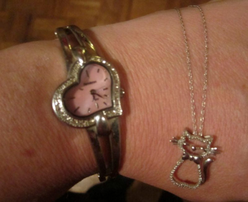 One of my favorite watches and necklaces from Kohl's
