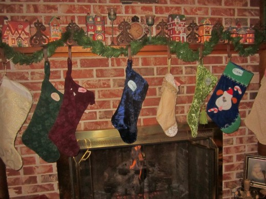 Stockings hung by the chimney with care.