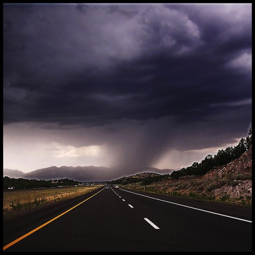 Tornadoes can symbolized a generalized anxiety about what is waiting down the road