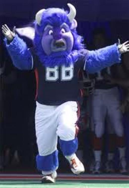 The Buffalo Bill mascot LOVES Buffalo wings.