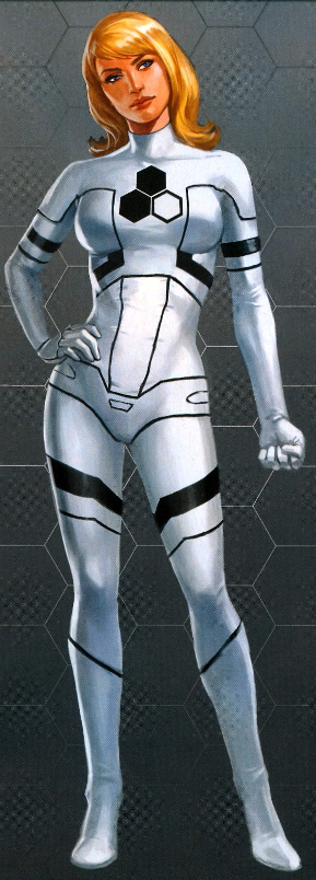 Invisible Woman Black and White Costume