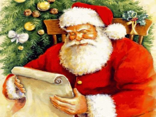 Santa going through his Reindeer expense list