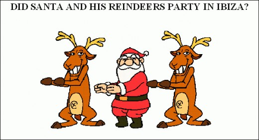 Did Santa party with his Reindeer's in Ibiza?