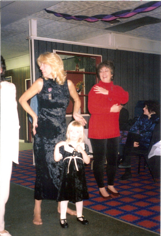 Dancin at my 50th (Me in the black)