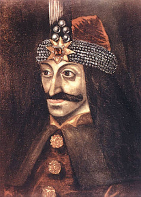 Vlad Tepes portrait - oil painting