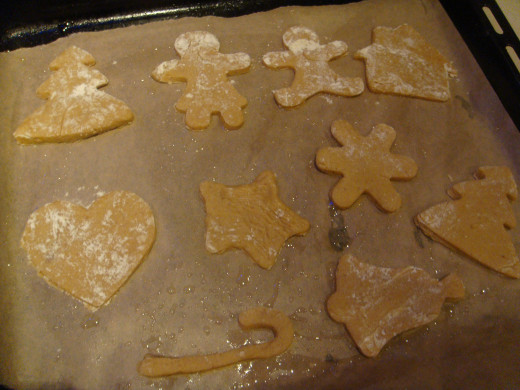 Cut out your gingerbread shapes