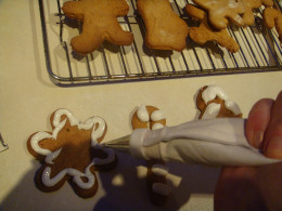 Ice your gingerbread decorations