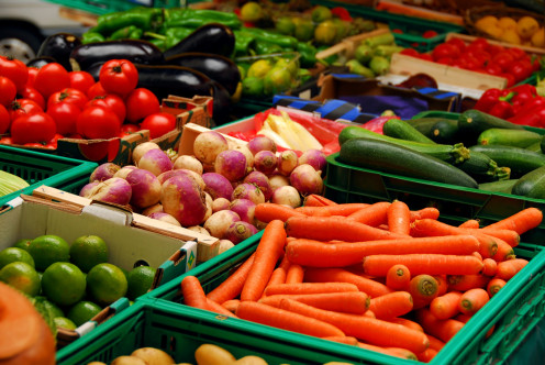 Go crazy on vegetables and fruits.