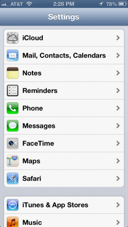 Tap on Mail, Contacts, Calendars