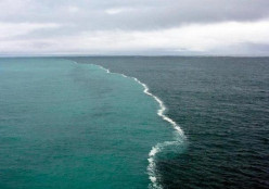 This is a place where 2 oceans meet, but do not mix. Why won't they mix?