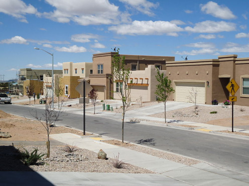 Moderns homes in Santa Fe, New Mexico in the 2010s.
