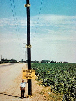 Just look at the affects of land subsidence has had on the San Joaquin Valley, CA since 1925.