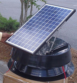 Why not consider a solar powered attic fan to save more on energy bills?